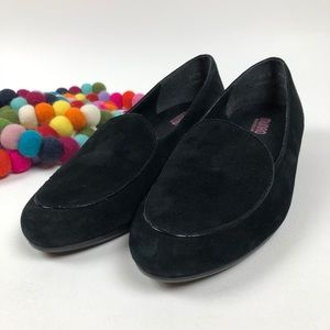Munro American Loafer Mallory Black Suede 9.5 W
